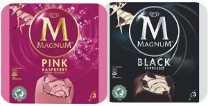 Pink and black Magnum bars. Photo: Bing